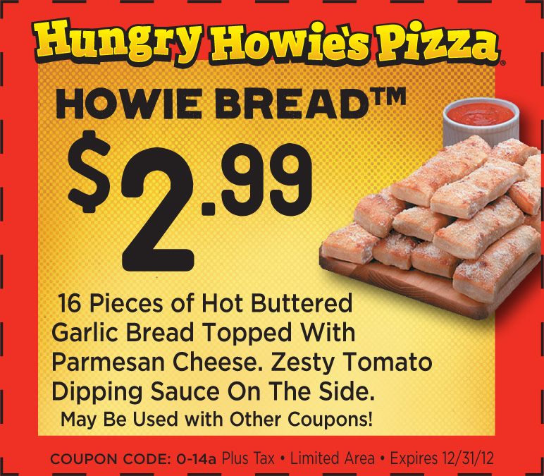 Hungry Howie's Pizza Promo Codes We have hungry howie's pizza coupons for you to consider including promo codes and 0 deals in December Grab a /5(3).