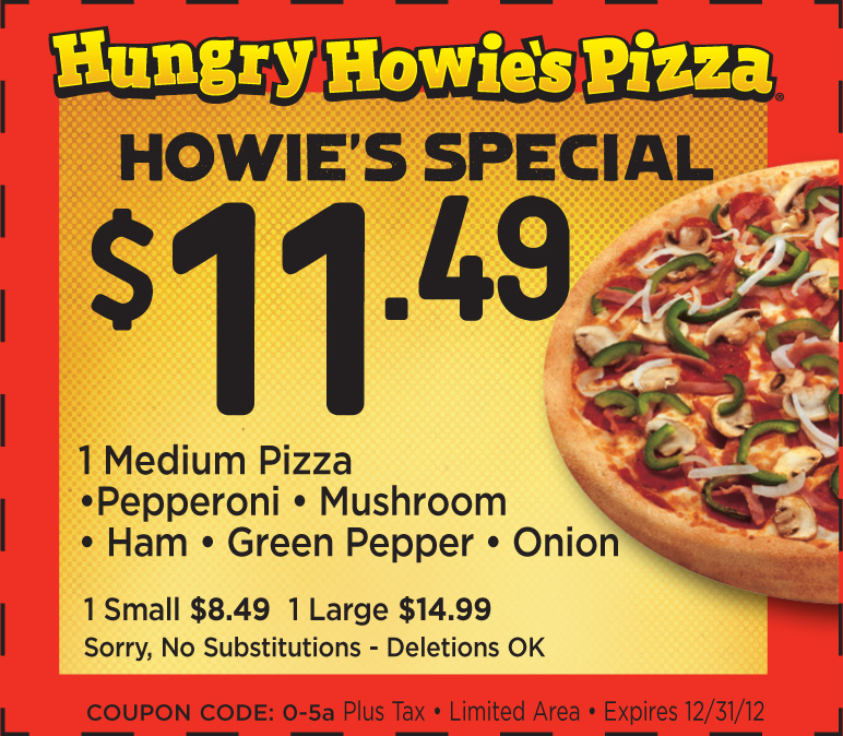 Dec 04,  · $10 off Hungry Howies Pizza Coupons and online discounts in St. Clair Shores South Eastpointe. Coupons for Hungry Howies Pizza and it is a Pizza restaurant with a location at Kelly Rd in Eastpointe, MI /10(25).
