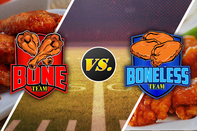 Buffalo wing standoff - bone vs boneless wings for Super Bowl