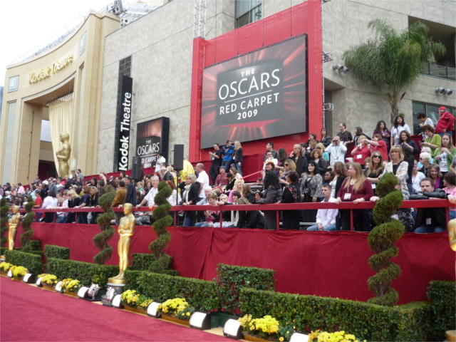 The Oscars Red Carpet at the Academy Awards