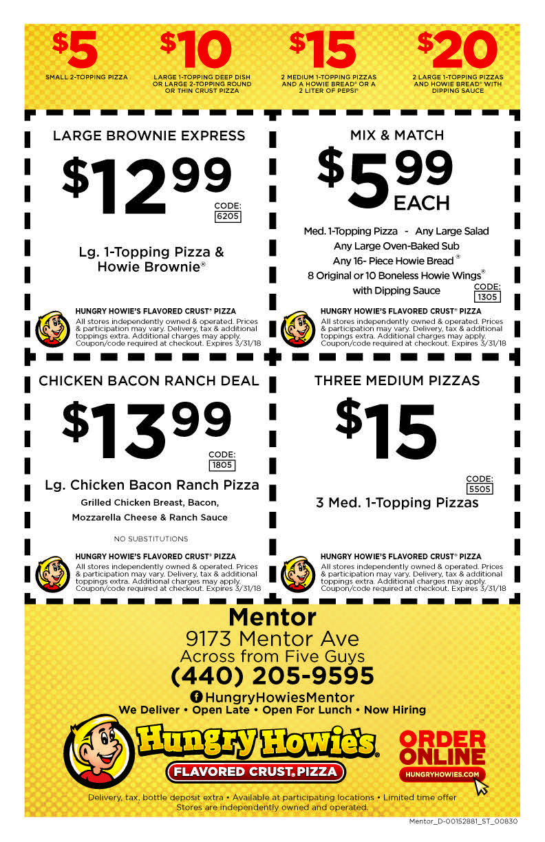 pizza coupons mentor ohio