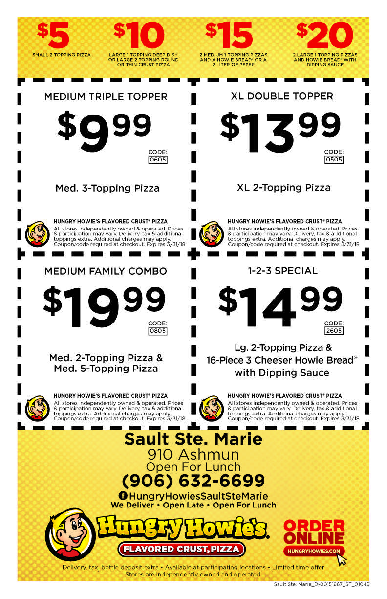Maries pizza coupons