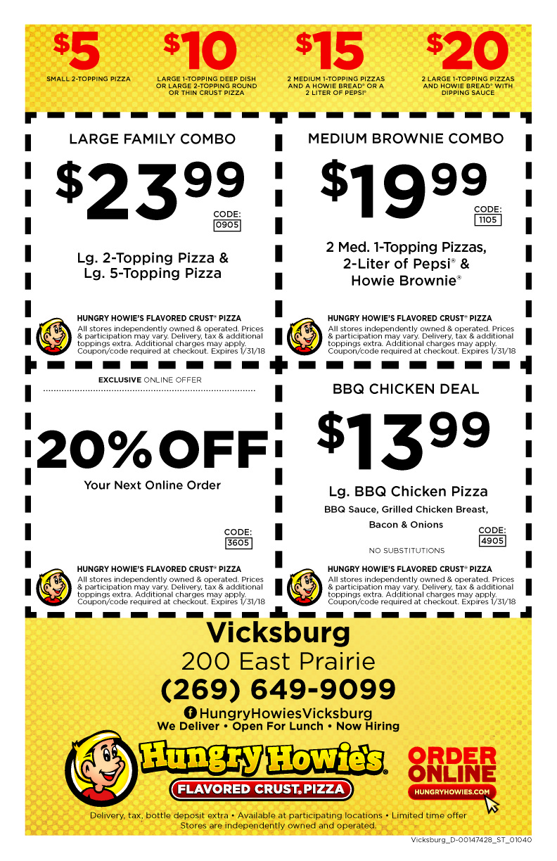 Hungry howies online coupons