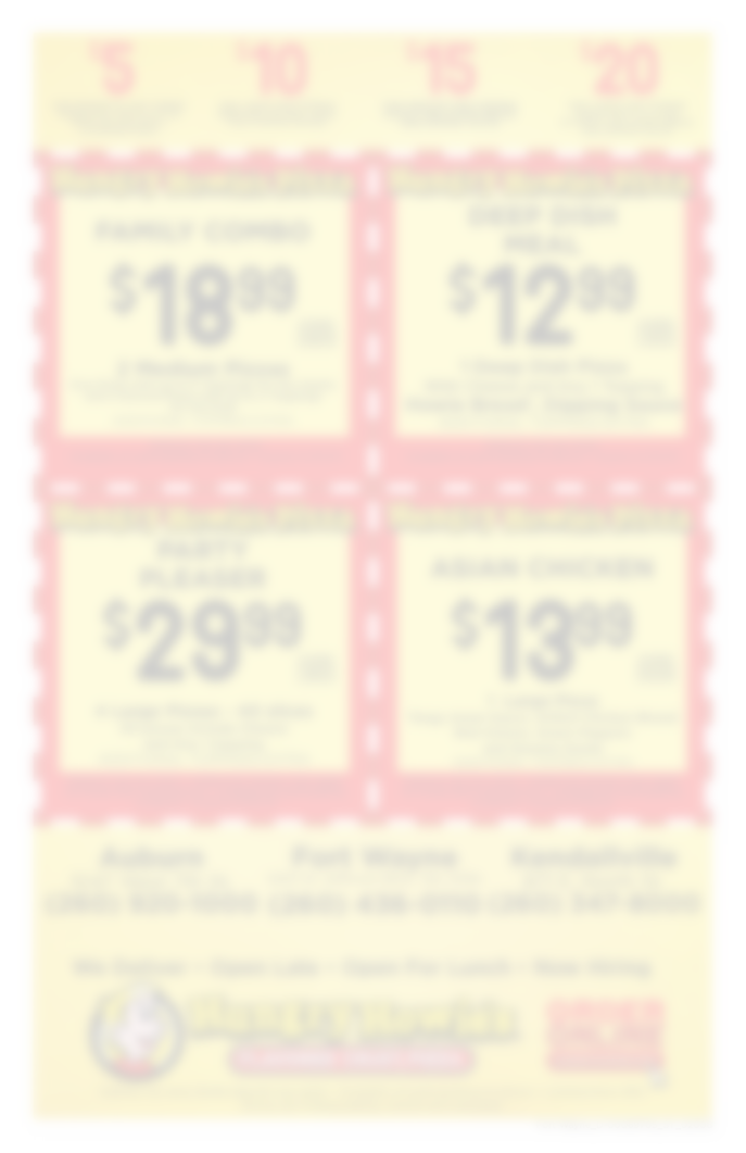 graphic regarding Eat N Park Printable Coupons identified as Pizza Specials, Coupon codes Discounts In the vicinity of On your own Hungry Howies