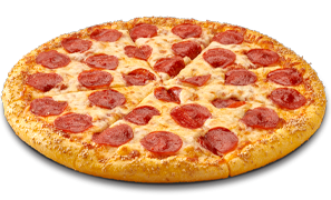 Pizza - Topped with 100% real mozzarella cheese